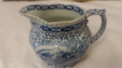 Adams English antique creamer blue & white pattern