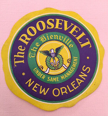 Hotel Luggage Label The Roosevelt, New Orleans - (USA)