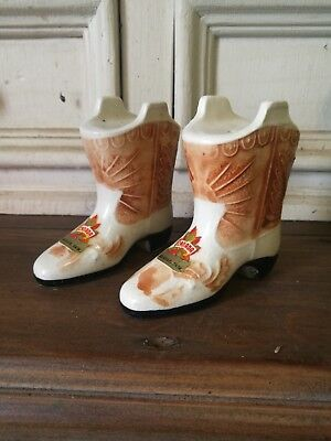 Vintage salt and pepper shakers. Canada cowboy boots