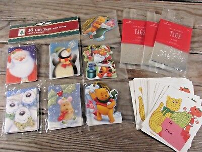VTG to now lot of Christmas gift tags glitter foiled 70's some new old stock