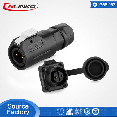 CNLinko 2 Pin M12 Plastic Power Connector Male Plug Female Socket For LED Screen