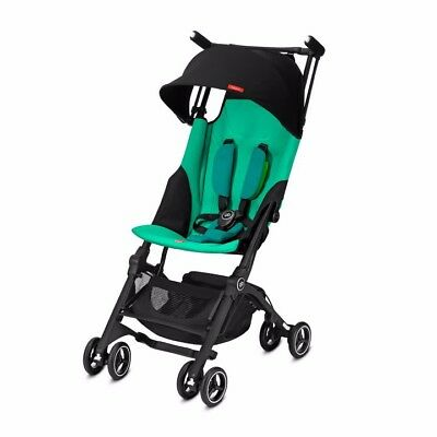 GB Pockit+ Plus - Ultra Compact Lightweight Travel Stroller, Laguna Blue, New OB