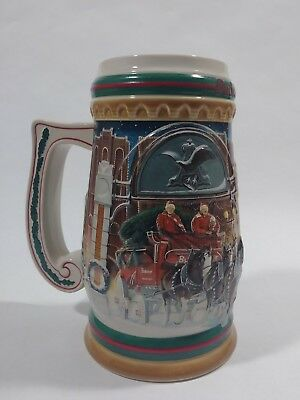 Vintage Budweiser Christmas Stein Home For The Holidays 1997 Anheuser Busch