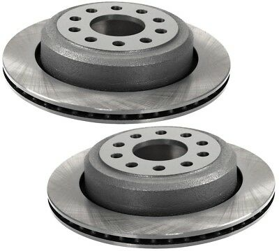 For Lincoln Town Car Pair Set of 2 Rear Disc Rotors Vented 295mm 10 Lug Brembo