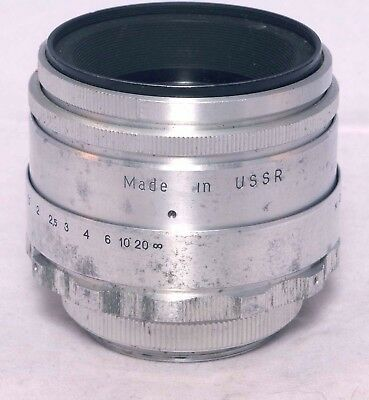 Helios 44 58mm f.2 Lens M42 mount adapts for DSLR cameras. Made in USSR