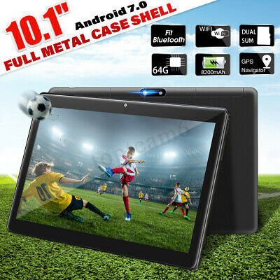 10.1'' 4G+64GB Android 7.0 Tablet PC HD 2.5D Bluetooth Octa 8 Core WIFI 2 SIM 4G