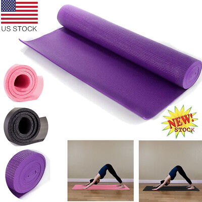 6-10mm Yoga Mat Health Fitness Non-slip Thick Exercise Pad Physio Gym Cushion