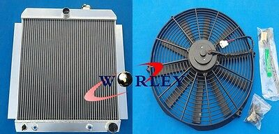 56mm Aluminum Radiator & Fan for Chevy Truck Pick UP AT 1948-1954 Pickup 49 50