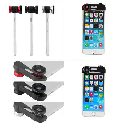3-in-1 Clip-on Wide Angle Macro Special Effect Lens Kit For iPhone 6 4.7'' ZL