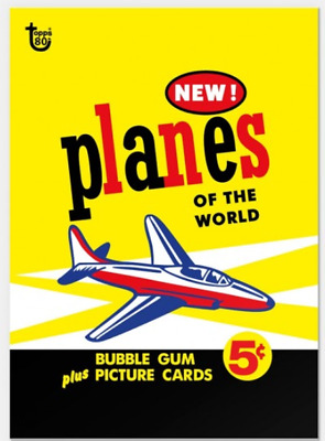 2018 Topps Wrapper Art #27 Planes of the World 1957 Card Retro Print Run 221