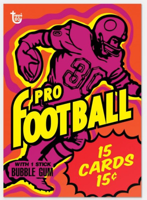 2018 Topps Wrapper Art #30 Football 1973 Card 80th Anniversary Only 216 Made PS