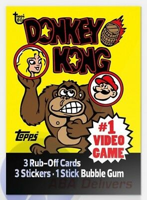 2018 Topps Wrapper Art Card #20 Donkey Kong 1982 80th Anniversary PR-256