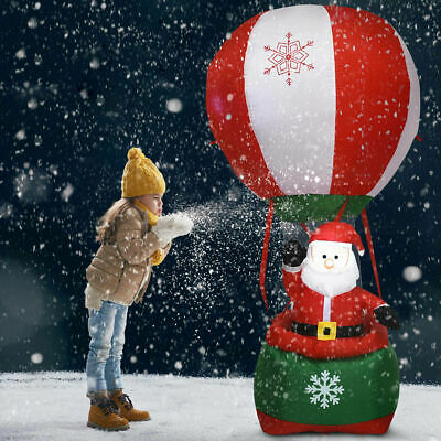 6' Christmas Decoration Inflatable Santa Claus Hot-air Balloon Lighted Outdoor