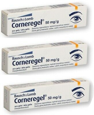 3 pcs Corneregel® 5% Eye Gel Tube 10g , Corneal Disorders