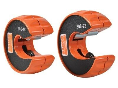 Bahco 306-PACK 2 Piece Tube Cutter Pipe Slice Twin Pack 15 & 22mm