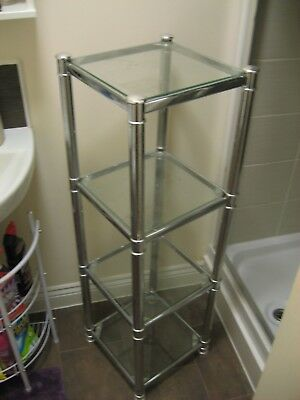 Four glass shelves stand in Great condition