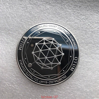 Art  Souvenir Golden QTUM Quantum Storage Commemorative Coin Collection Hot