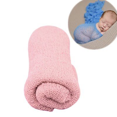 Newborn Baby Stretch Textured Knit Rayon Wrap Cocoon Photo Photography Prop RQ