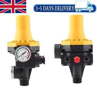Automatic Water Pump Controller 220V Electric Control Switch with Pressure Gauge