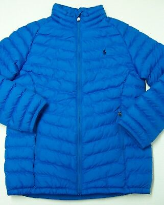 Ralph Lauren Royal Blue Puffer Jacket Boy's L 14 16 XL 18 20 New NWT