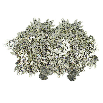 100pcs Alloy Filigree Hollow out Angel Charms Pendant Jewelry DIY Craft Bulk