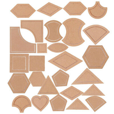 54pcs Assorted Acrylic Quilting Templates for DIY Quilter Patchwork Sewing