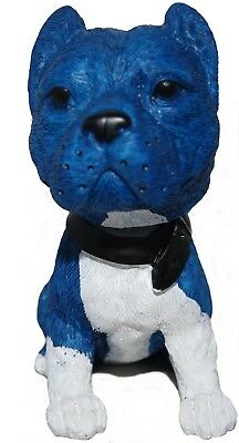 Pit Bull Dog Hand Painted Poly-Resin Bobble Head Figurine  NEW