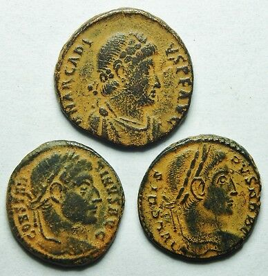 Interesting Selection Of Three Roman Bronze Coins (202H)