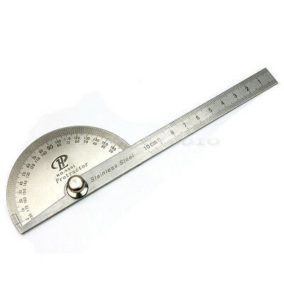 New And High Quality Steel Round Head 0-180 Degree Protractor Angle Ruler