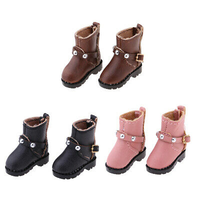 Fashion PU Leather Boots Shoes for 1/6 Blythe Licca Doll Accessory