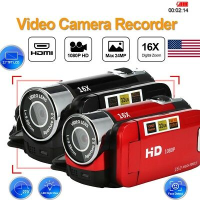 2.7'' 16MP HD 1080P Video Camera 16X TFT LCD Digital Zoom DV DVR Camcorder USA