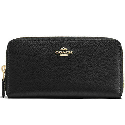 COACH F16612 Accordion Zip Around Pebble leather Wallet