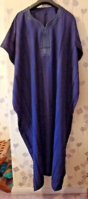 Genuine Moroccan  Men's Djellaba  Kaftan / Robe / Thobe  NAVY BLUE