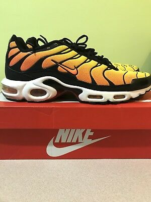 competitive price 27cd2 8aba1 Nike Air Max Plus Tn Sunset Yellow Black Orange Mens Size 11.5 647315-700