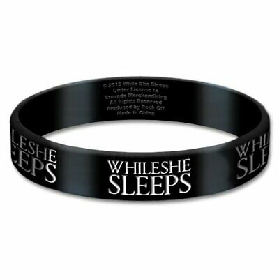 While She Sleeps Gummy Wristband: Logo