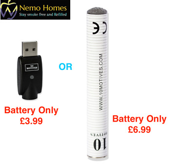 1 x10 Ten Motives V2 Rechargeable | Replacement Battery Only or Replacement USB