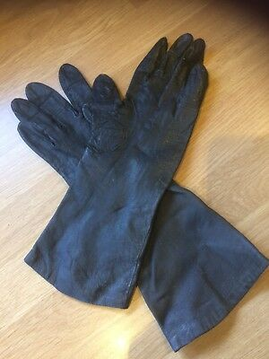 Ladies Vintage Soft Leather Gloves Size Small