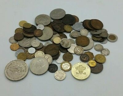 104 Coins Mostly British Various Years & Coins Job Lot COIN HUNT