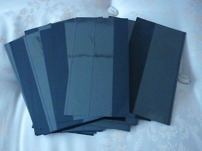 49 x Stamp Stock Display Cards - Used - Single AND DOUBLE - Black