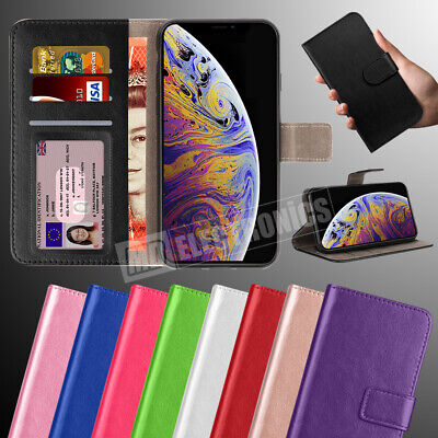 Case for iPhone Phones Cover Real Genuine Leather Flip Wallet