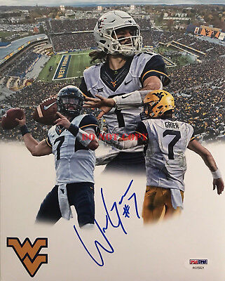 Will Grier Signed Autographed West Virginia Mountaineers 8x10 Photo  Reprint