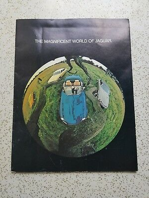 "Vintage Original 1974 Jaguar Brochure Catalog ""The Magnificent World of Jaguar"""""