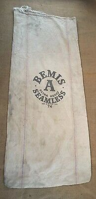 Vintage BEMIS A Seamless Cloth Seed Sack Feed Bag