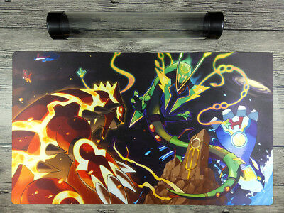 Pokemon Trainer Playmat Trading Card Game Custom Duel Mat Free High Quality tube