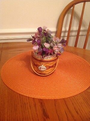 Longaberger Miniature Sweet Pea Basket with Flowers