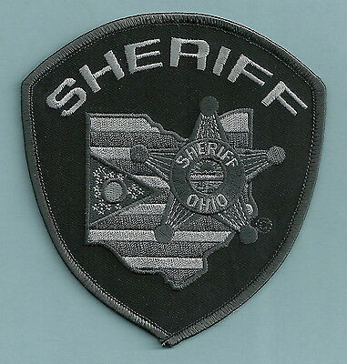 State Of Ohio Sheriff Tactical Police Patch Gray