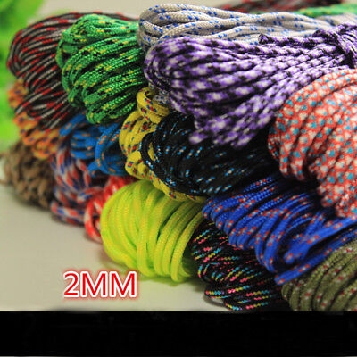 HOT sell 25/50/100FT 550 Paracord Rope  Parachute Cord CAMPING HiKING