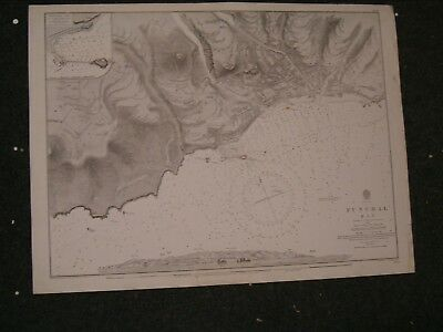 Vintage Admiralty Chart 1689 MADEIRA - FUNCHAL BAY 1845 edition