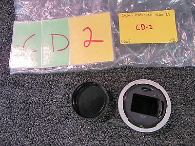 Canon Extension Tube Fd 25 Film Camera Lens Mount Adapter Japan With Case Used