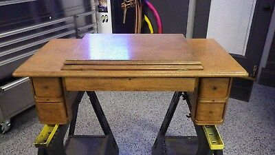 Antique Singer No. 2 Treadle Sewing Machine Cabinet Top w/ Drawers Complete